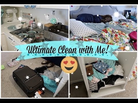ULTIMATE CLEAN WITH ME | ENTIRE APARTMENT | CLEAN MY MESSY APARTMENT WITH ME