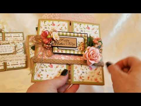 Spring Market Mothers Day Gatefold Cards+ Tutorial for Scrapbooking With M.E.