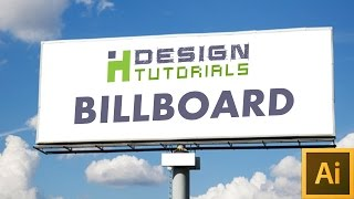 create billboard advertisement in Adobe illustrator | 20x32 feets