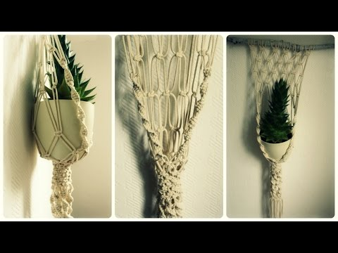 diy tutorial macrame bunting banner free pattern by doovi. Black Bedroom Furniture Sets. Home Design Ideas