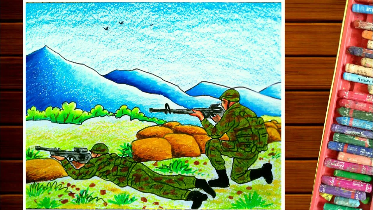 Kargil War Drawing Indian Army Drawing Independence Day Youtube