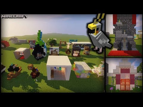 Minecraft - 25 MORE Parrot House Designs! (Cages/Stands/Aviaries)