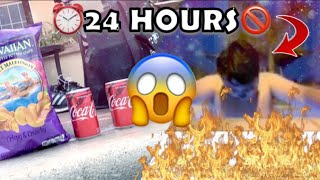 24 hour challenge in a hot tub (BAD IDEA!!)