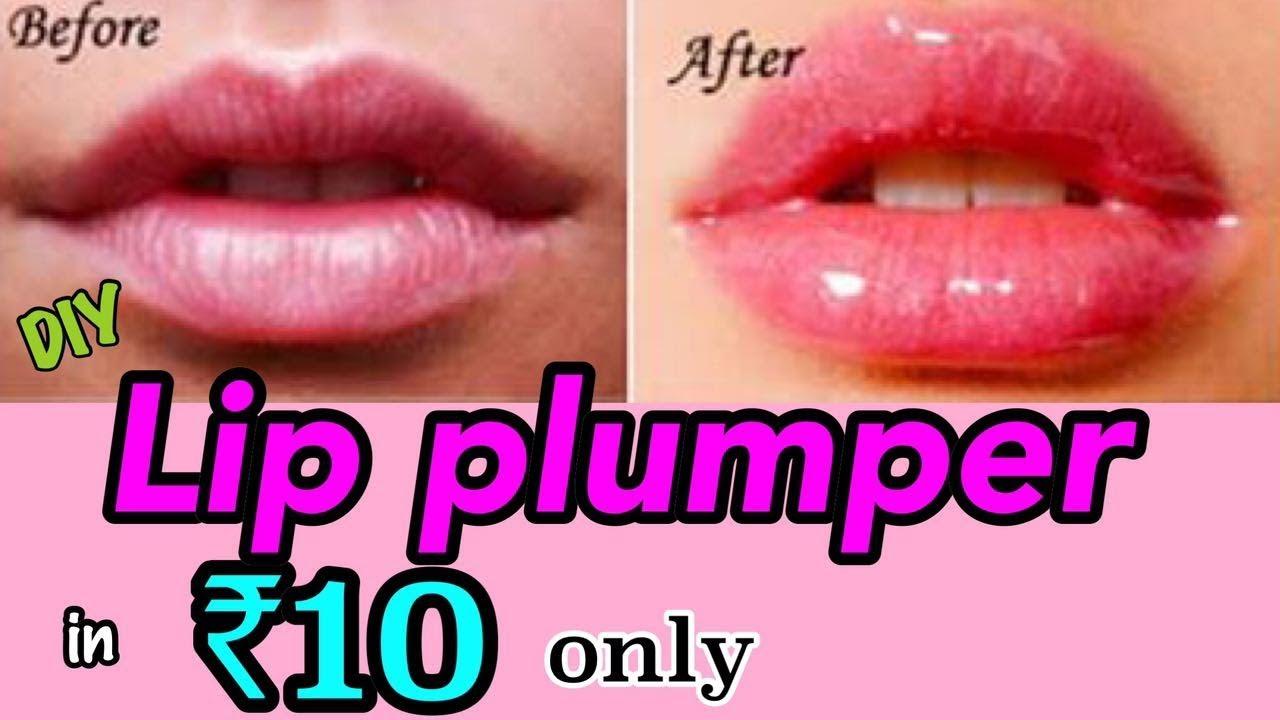 How to Get BIGGER/FULLER Lips  DIY Lip Plumper in ₹9 ONLY