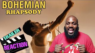 Bohemian Rhapsody Official Trailer Reaction! DON'T STOP ME NOW!!!