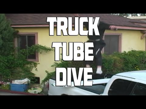 Roof Dive Into A Truck With Light Tubes
