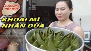 Cách làm bánh ít khoai mì nhân dừa (cây nhà lá vườn) #namviet