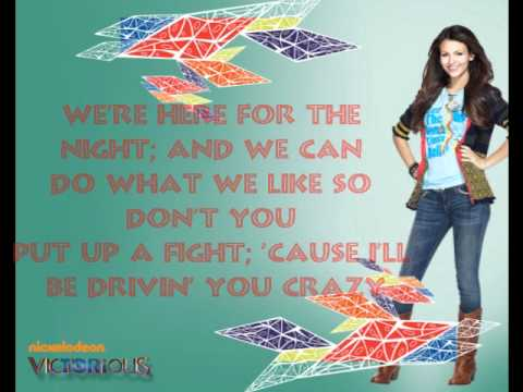 Victorious Shut Up Ane Dance-Lyrics