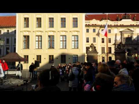 Live Christmas Carols Hradcany castle, Prague, Czech Republic