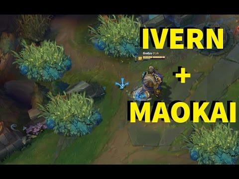 IVERN + MAOKAI! DEADLY BUSHES EVERYWHERE!! INSANE DAMAGE  - ONESHOTS [ League of Legends ]