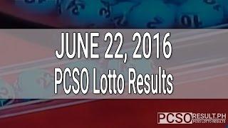 PCSO Lotto Results June 22, 2016 (6/55, 6/45, 4D, Swertres & EZ2)