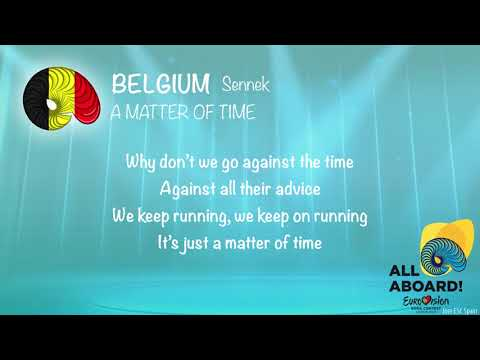 Sennek - A Matter Of Time (Belgium) [Karaoke Version]