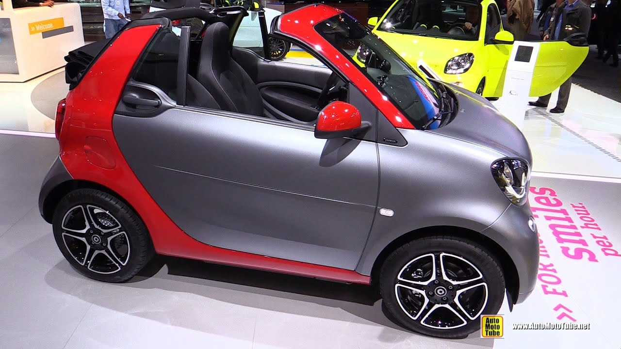 2017 Smart For Two Cabrio Exterior And Interior Walkaround Debut At 2016 Detroit Auto Show