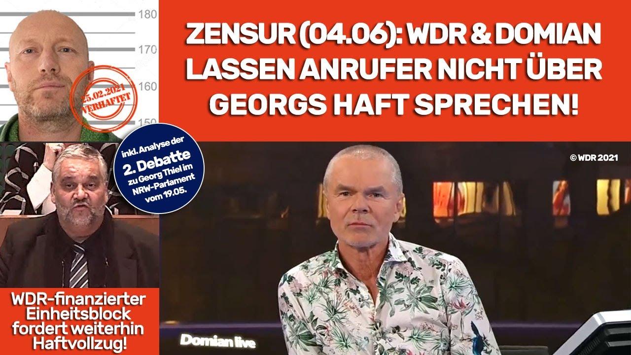 Warum Georg Thiels GEZ-Haft ein politisches Tabu ist und sogar Domian beim WDR zurückgepfiffen wird