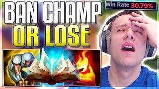 *WARNING* ban this champion or you WILL lose - Journey To Challenger | LoL