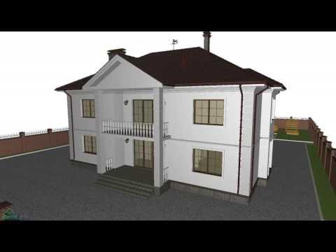 Проект классического двухэтажного дома «Аристократ-»  F-197-ТП