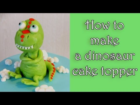 How To Make A Fondant Dinosaur Cake Topper Tutorial Jak