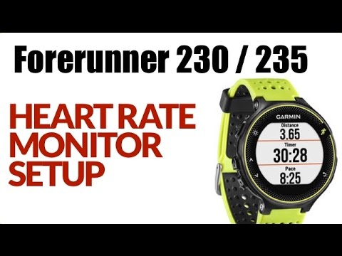 How To Setup The Heart Rate Monitor On The Garmin Forerunner 230 ! FEATURE REVIEW !