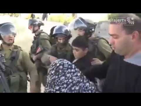 A Palestinian mother trying to help her child from Israeli Soldier  | Terrorism | Free_Palestine