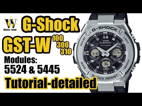 GST-W310 - Tutorial On How To Set And Use All The Functions