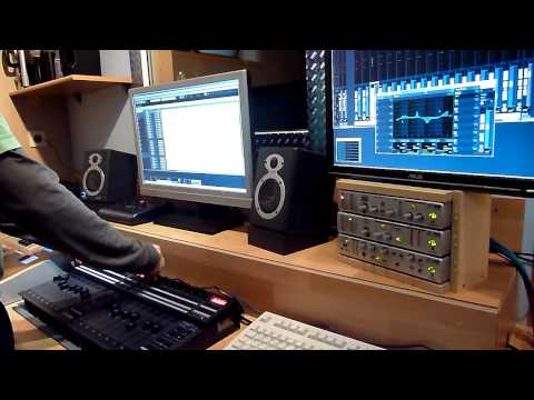 Racktile Records Demo Video Control Cubase with 2 BCF 2000 in Mackie Control Emulation Mode