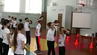 Урок физкультуры, 5 кл., учитель - Коломиец А. П.,  МБОУ лицей №18 города Орла