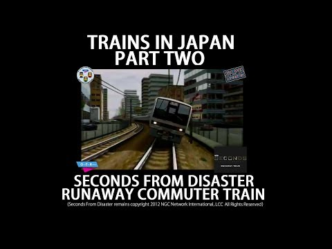Trains In Japan PART TWO: Seconds From Disaster Runaway Commuter Train HD