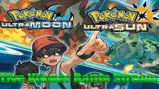 Pokemon Ultra Sun and Ultra Moon Live Viewer Battle & Shiny Giveaway! Arc Vs. Nintendo!