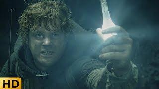 Сэм дерется с гигантским пауком. Властелин колец: Возвращение короля.