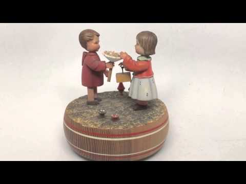 Anri Reuge Swiss Vintage Wind Up Music Box Plays Happy Birthday at Connectibles