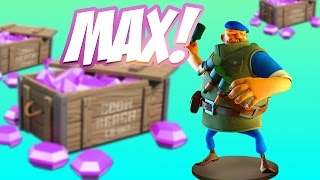 Buying Grenadier Level 10! MAXED OUT Attacks! Boom Beach