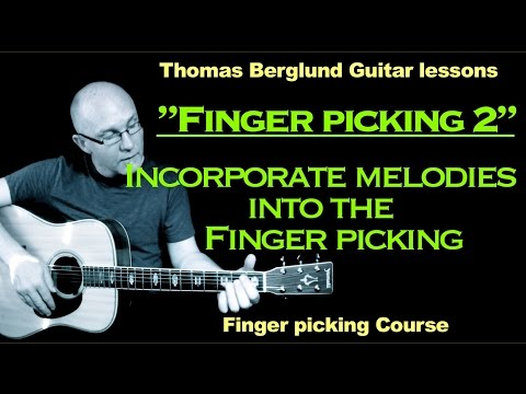 "Finger picking Guitar lesson  ""part 2"" - Finger picking lesson"