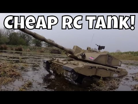 Awesome Cheap Airsoft RC Tank! 1/16 Scale Heng Long Challenger II 3908-1
