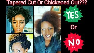 OMG!!!DID I REALLY CUT MY HAIR? |Tapered Cut or Chickened Out? | Auburn Hair Color