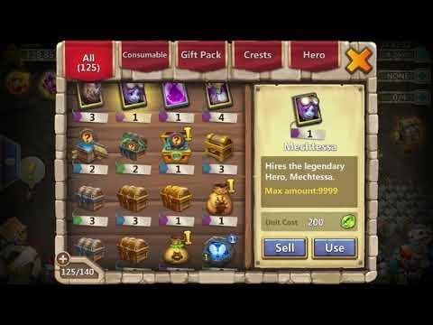 Castle Clash Opening Gods ....!! Iron Will Crests Level 3 !!