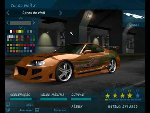 Need For Speed Underground 1 Supra Do Velozes E Furiosos