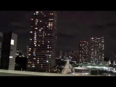 Tokyo night drive 4K side 2017 首都高 車窓
