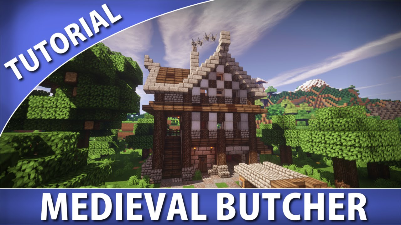 Minecraft How To Build A Medieval Butcher Youtube
