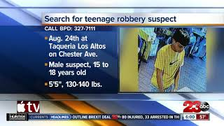 Bakersfield Police Department searching for teenage robbery suspect