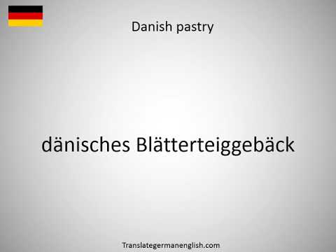 How to say Danish dictionary in German?