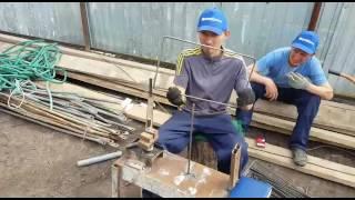 видео Арматурный каркас ленточного фундамента: сооружение