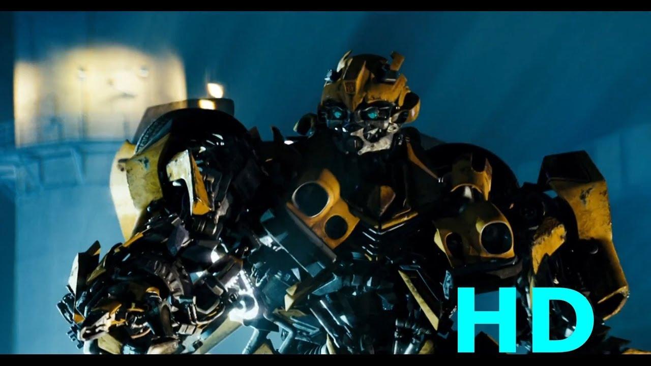 Bumblebee Vs Barricade Transformers 2007 Movie Clip Blu Ray Hd Sheitla Youtube