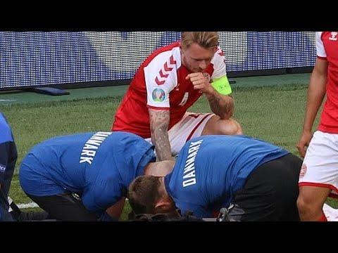 hero Simon Kjaer gave CPR on Christian Eriksen before medics heroic act! Euro 20