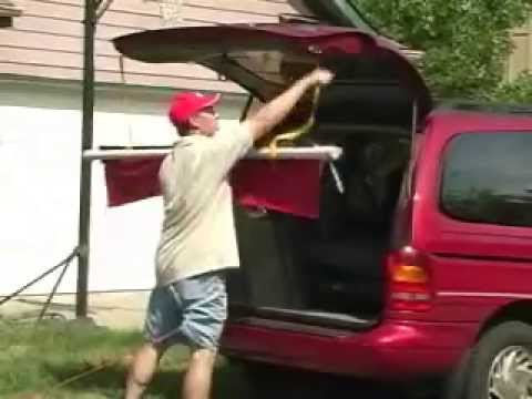 Tailgating And Dog Show Portable Canopy Awning Invention