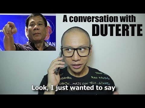 A Conversation with Philippine President Rodrigo Duterte
