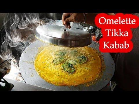 Yummy ! Omelette Tikka Kabab Recipe , Surat City , Gujarat |  Egg Recipes 2018  | Indian Street Food