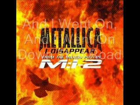 Metallica-I Disappear(lyrics)