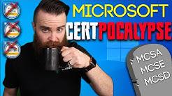 GOODBYE Microsoft certifications!! (killing off the MCSA, MCSE, MCSD)