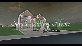 Roblox| Bloxburg| Simple vintage home
