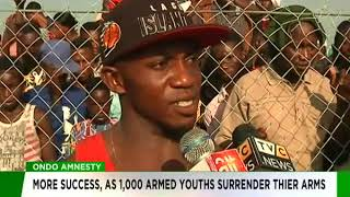 Ondo Amnesty: More Success as more youths surrender their arms